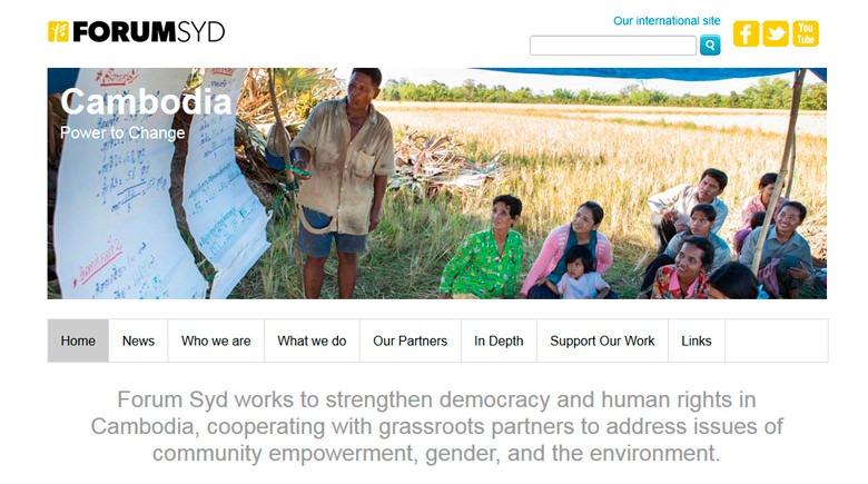 Web Design: Forum Syd Cambodia