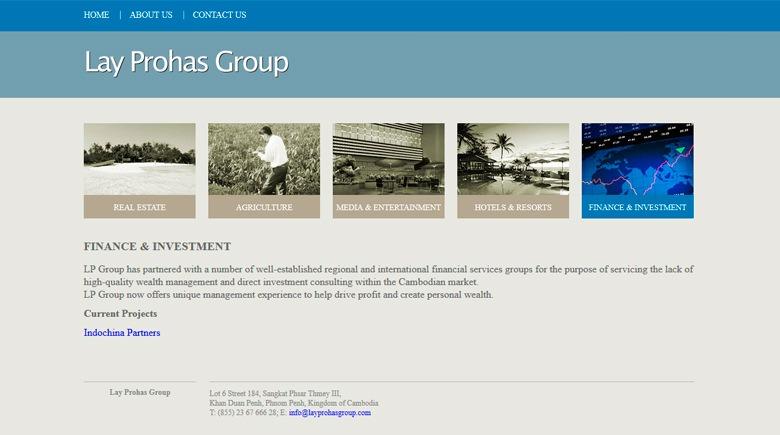 Web Design: Lay Prohas Group