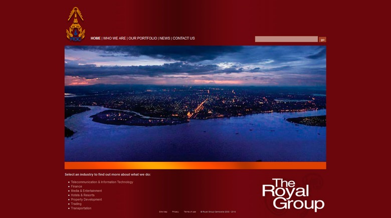 Web Design: Royal Group