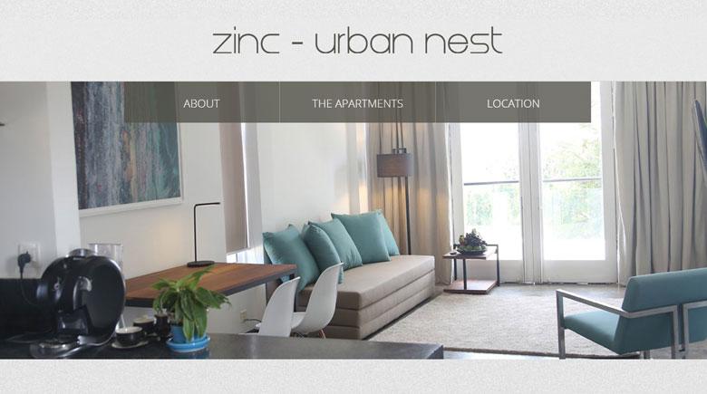Web Design: Zinc Urban Nest